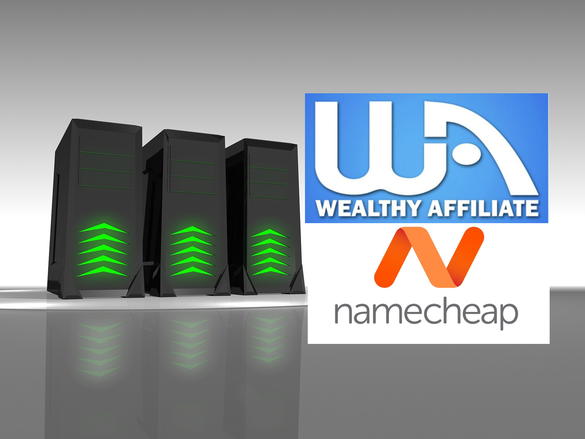 Wealthy Affiliate and Namecheap Logos