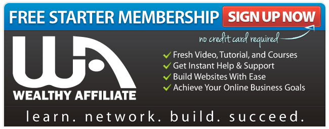 Wealthy Affiliate Starter membership banner