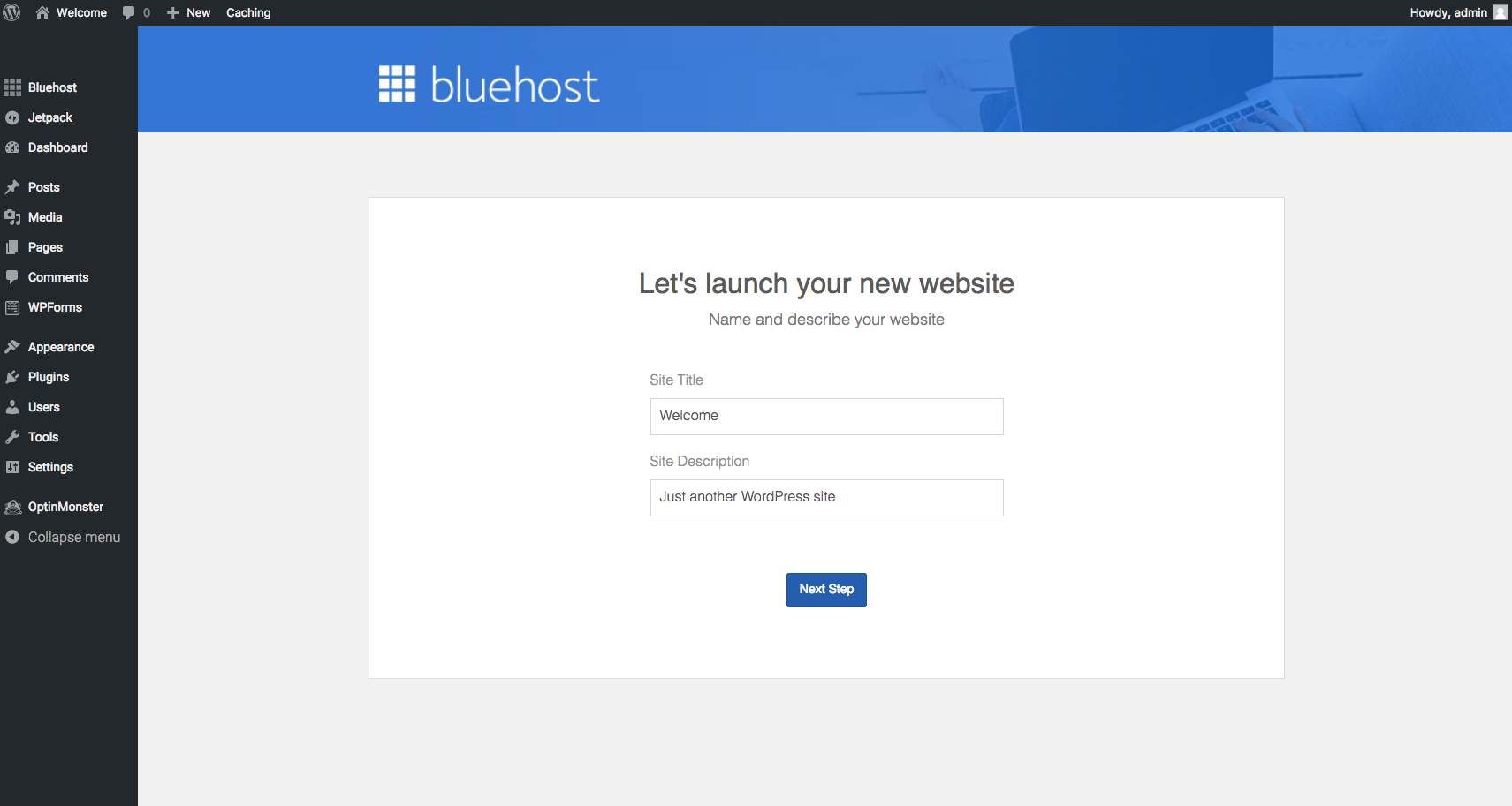 BlueHost launch site