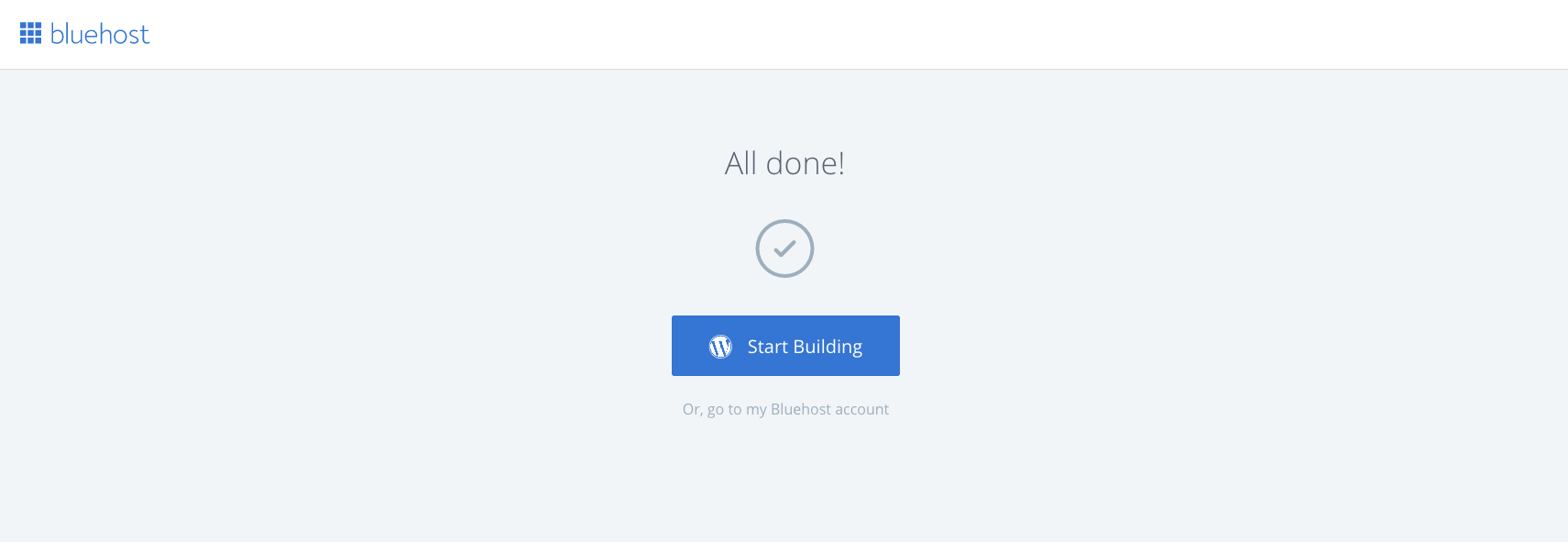 BlueHost theme installed