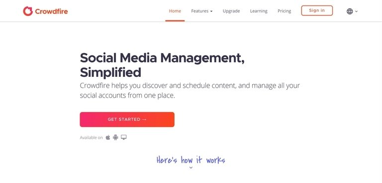 crowdfire-website